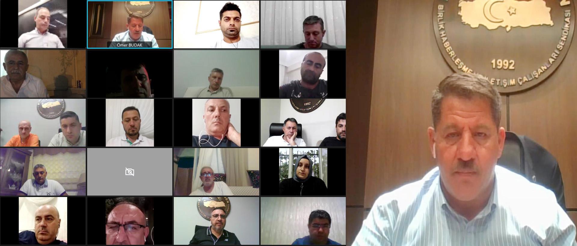 Online Başkanlar Kurulu Toplantısı Gerçekleştirildi