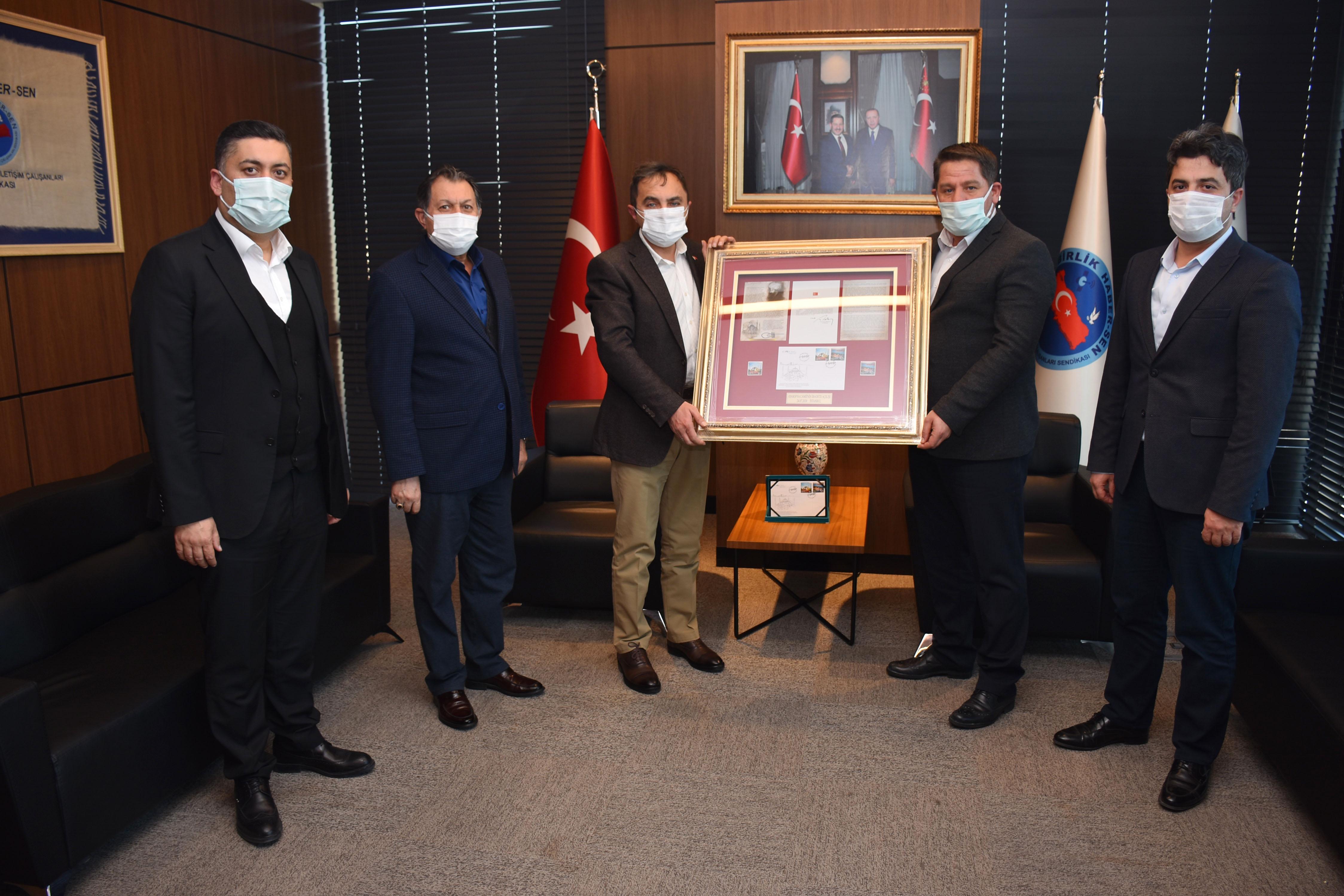PTT A.Ş. Genel Müdür Yardımcısı Ali İhsan Karaca'dan Birlik Haber-Sen'e Ziyaret