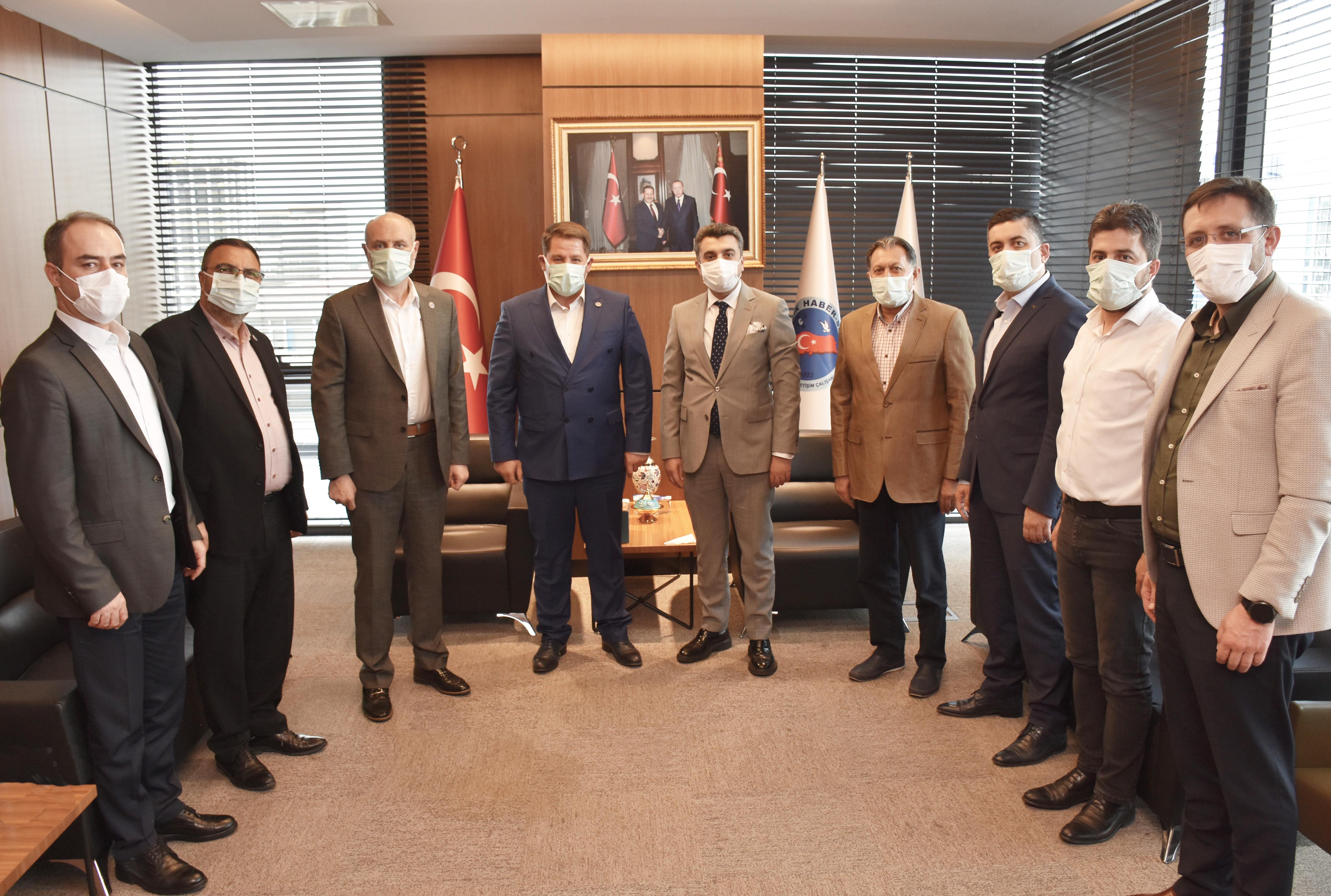 PTT A.Ş. Genel Müdür Yardımcısı Hüseyin Tok'tan Birlik Haber-Sen'e Ziyaret