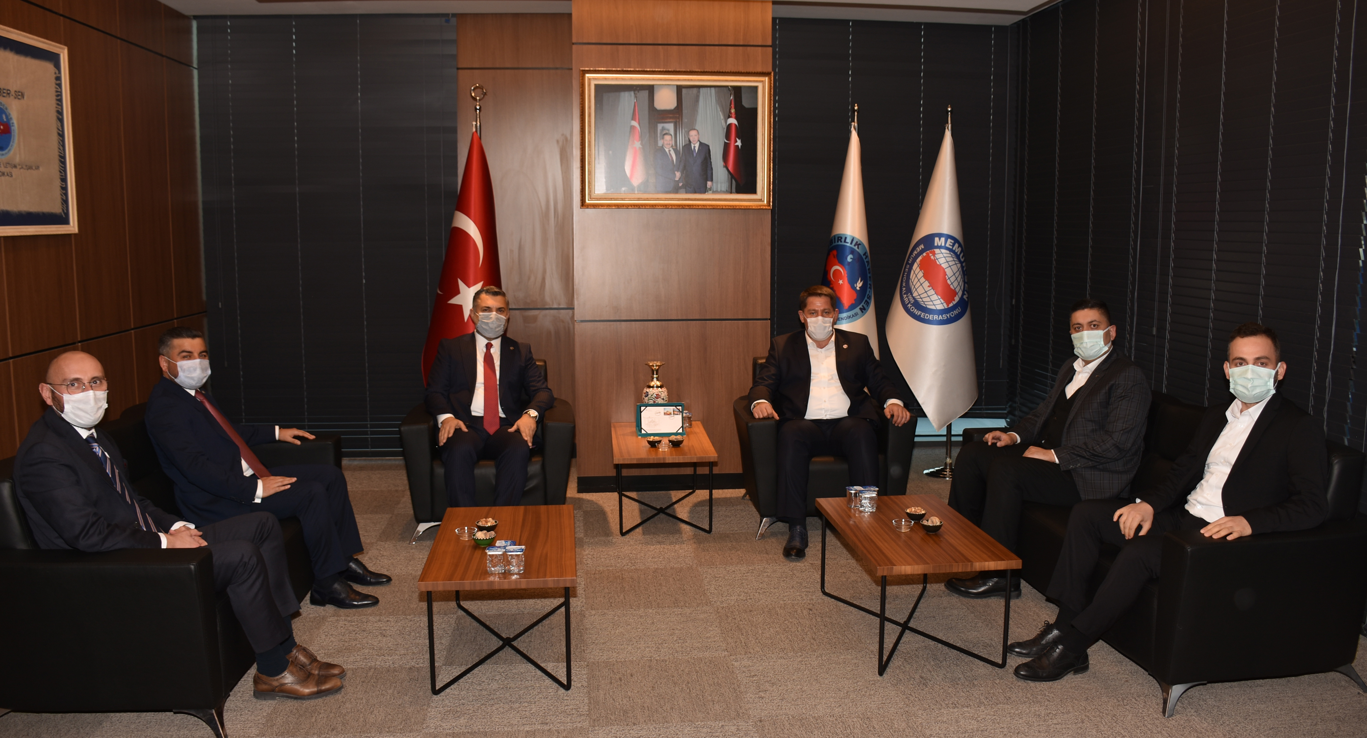RTÜK Başkanı Ebubekir Şahin'den Birlik Haber-Sen'e Ziyaret